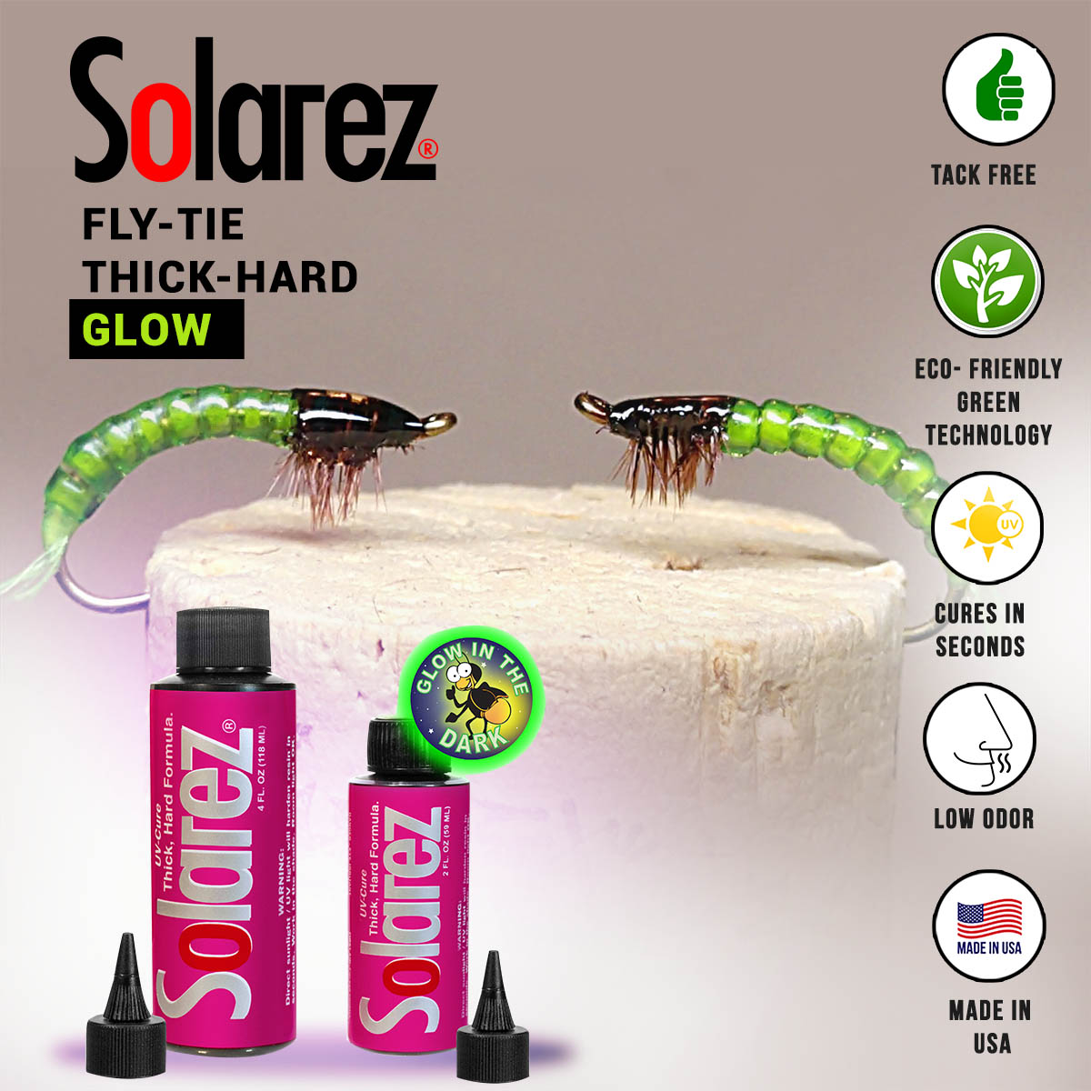 Fly-Tie Thick Hard Glow | Solarez UV Resins