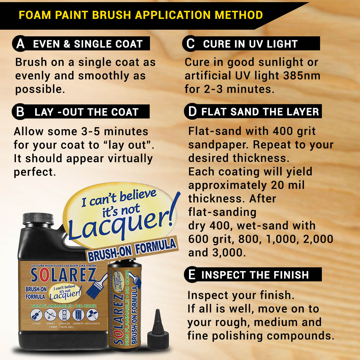 Brush-On I Can't Believe It's Not Lacquer | Solarez UV Resins